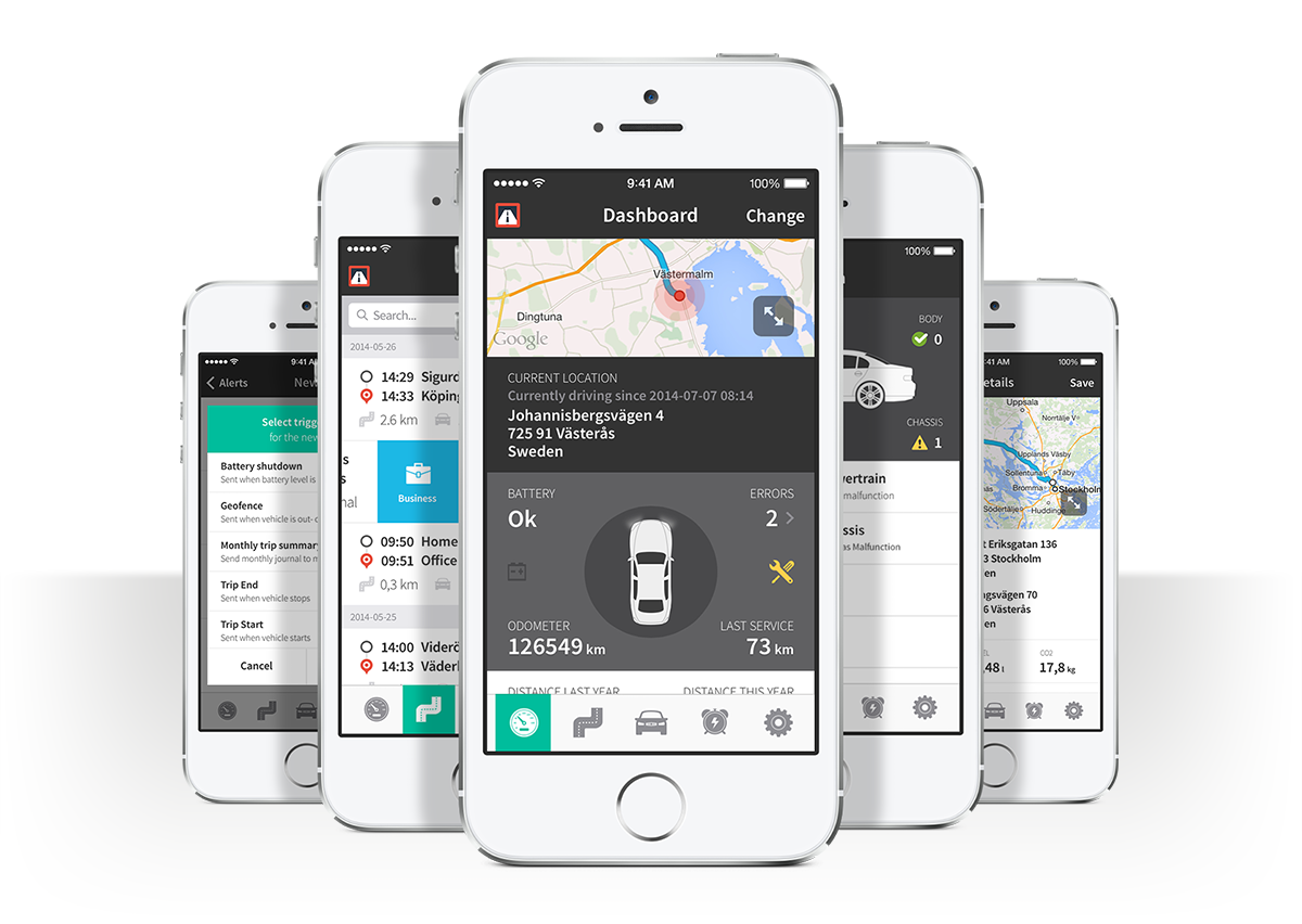 Automile mobile dashboards